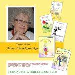 [Krynica – Zdrój]: Mira Białkowska – spotkanie autorskie