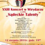 XXIII Koncert w Wirydarzu – Sądeckie Talenty