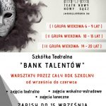 """Szkółka Teatralna """"Bank Talentów"""" – Teatr Nowy w Nowym Sączu zaprasza na zajęcia"""