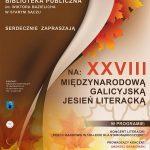 [Stary Sącz]: XXVIII Międzynarodowa Galicyjska Jesień Literacka