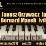 Koncert w Jazz Club Atelier: Janusz Grzywacz, Bernard Maseli