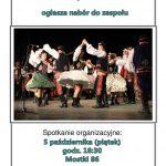 [Stary Sącz]: Regionalny Zespół Pieśni i Tańca Starosądeczanie ogłasza nabór