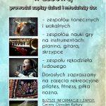 [Łabowa]: Gminny Ośrodek Kultury w Łabowej zaprasza dzieci i młodzież na zajęcia taneczne, wokalne, gry na instrumentach i inne