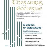 THESAURUS ECCLESIAE – W drodze na święta górę