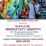 [Krynica – Zdrój]: Warsztaty Graffiti z Morsem