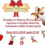 [Mokra Wieś]: Ozdoby świąteczne – warsztaty