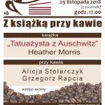 Z książką przy kawie: Tatuażysta z Auschwitz