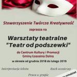 [Łososina Dolna]: Teatr od podszewki – warsztaty