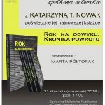 Spotkanie autorskie z Katarzyną T. Nowak