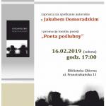 Poeta poślubny – spotkanie autorskie z Jakubem Domoradzkim