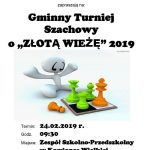 [Kamionka Wielka]:Gminny Turniej Szachowy o Złotą Wieżę 2019