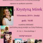 [Krynica – Zdrój]: Spotkanie autorskie z Krystyną Mirek