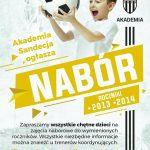 Akademia Sandecja ogłasza nabór rocznik 2013 – 2014