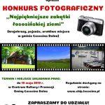 """[Łososina Dolna]: Konkurs Fotograficzny – """"Najpiękniejsze zakątki łososińskiej ziemi"""""""