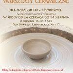 [Muszyna]: Wakacyjne warsztaty ceramiczne