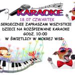 [Mokra Wieś]: Karaoke dla Dzieci