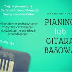 [Łososina Dolna]: Wakacyjny kurs gry na pianinie lub gitarze basowej