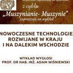 [Muszyna]: Muszynianie – Muszynie: Nowoczesne Technologie Rozwijane w Kraju i na Dalekim Wschodzie