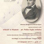 Wieczór w Muzeum: Polska liryka wokalna