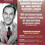 [Krynica – Zdrój]: VII Międzynarodowy Konkurs Wokalny im. Jana Kiepury