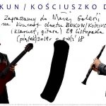 Koncert w Małej Galerii: Bokun & Kościuszko