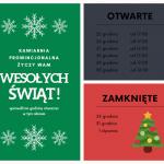 Prowincjonalna – świąteczne godziny otwarcia