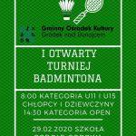 [Podole – Górowa]: I Otwarty Turniej Badmintona