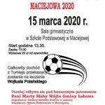 [Maciejowa]: Piłkarski Halowy Turniej Charytatywny MACIEJOWA 2020