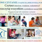 XIX Ogólnopolski Tydzień Bibliotek – Domowe czytanie