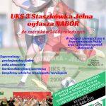 UKS 3 Staszkówka Jelna ogłasza nabór do roczników 2008 i młodszych
