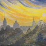 Panorama Nowego Sącza, autorka: Teresa Rogoń