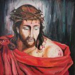 Jezus Chrystus w koronie cierniowej, autorka: Teresa Rogoń