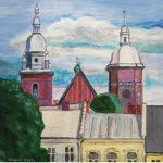 Kamienice oraz wieże kościoła Św. Małgorzaty, autorka: Teresa Rogoń