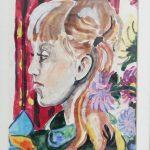 lewy profil dziewczynki, autorka: Teresa Rogoń