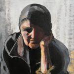 Portret starszej kobiety, autorka: Teresa Rogoń