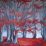 Las jesienią, autorka: Teresa Rogoń
