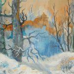 Las zimą, autorka: Teresa Rogoń
