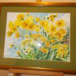 Żółte kwiaty ogrodowe, autorka: Teresa Rogoń