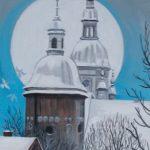 Wieże kościoła Św. Małgorzaty, autorka: Teresa Rogoń