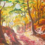 Koryto leśne jesienią, autorka: Teresa Rogoń