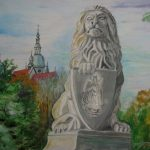 Lew z mostu Lwowskiego, autorka: Teresa Rogoń