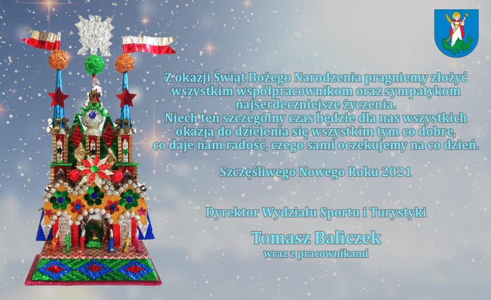 Kartka z życzeniami - Boże Narodzenie 2020