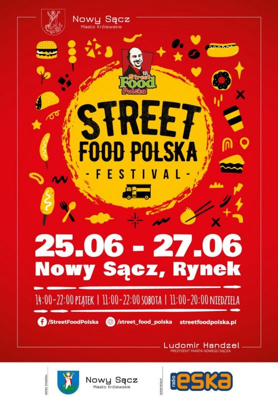 Plakat Zlot Food Trucków Nowy Sącz