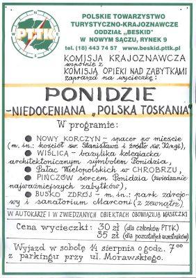 Ponidzie - wycieczka PTTK